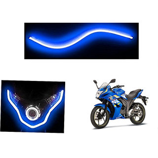 Autonity  Flexible 30cm Bike Headlight Neon LED DRL Tube BLUE For Suzuki Gixxer SF