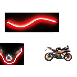 Autonity  Flexible 30cm Bike Headlight Neon LED DRL Tube RED For KTM RC390
