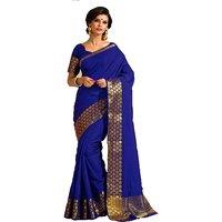INDIAN BEAUTY Art Silk Self Design Saree / Sari With Blouse ( Colours Available)