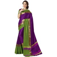 Indian Beauty Multicolor Polycotton Badge Saree with Blouse (Colors Available)