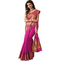 Indian Beauty Multicolor Art Silk Plain Saree With Blouse ( Colours Available)