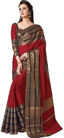 Indian Beauty Soft Art Cotton Silk Saree With Blouse