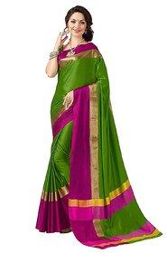 Indian Beauty Multicolor Self Design Art Silk Saree With Blouse