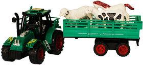 Animals Tractor Trolley Set