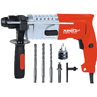 KING 20mm Rotary Hammer KP-308  550 Watt with 3 bits ,1 drill chuck and 1SDS adapter free inside