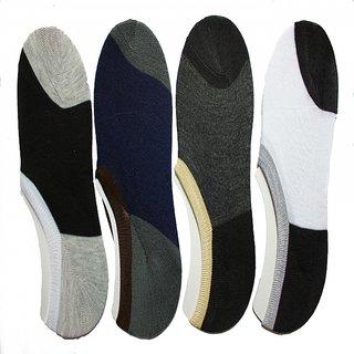 Mens Solid loafer Socks pack of 4 Pair