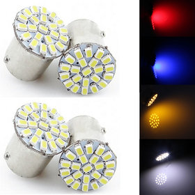 Allyours 4 x 22-SMD LED Universal Bike Red Indicator Light Bulb Lamp( Red Colour)