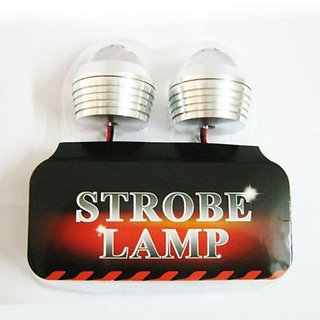 Bike Motorcycle Strobe Flashing LED Light For Bike in Red Color Flasher