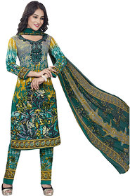 Drapes womens  Multicolor crepe Printed Dress Material (UnStitched) DF1904