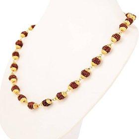 Fashion Gold Plated Rudraksha Cap Mala