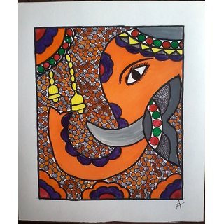ganesha madhubani painting in anucriation