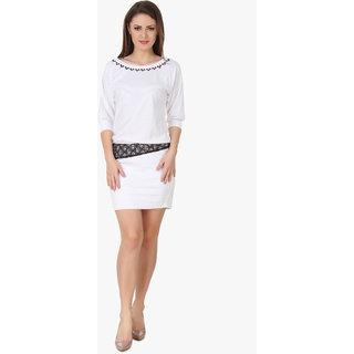 texco White Women's Dresses