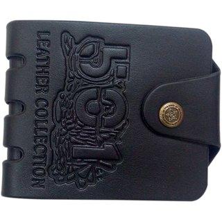 Unique Wallet For Men (Black Brown) (Synthetic leather/Rexine)