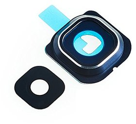 Back Rear Camera Glass Lens Cover Ring Replacement + Adhesive for Samsung Galaxy S6 EDGE G925  Blue