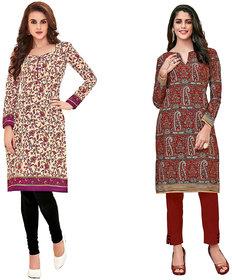 HRINKAR Yellow and Pink Cotton Readymade kurti for girls stylish - HRMKRCMB0184-L