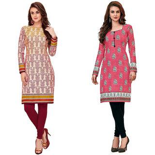 HRINKAR Multicolor and  Cotton Readymade kurti for girls stylish - HRMKRCMB0054-L
