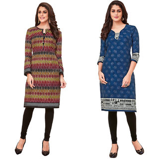HRINKAR Multicolor and  Cotton Readymade kurti for women - HRMKRCMB0075-L