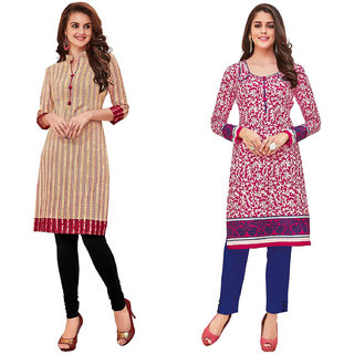 HRINKAR Multicolor and  Cotton Readymade kurties for womens cotton - HRMKRCMB0115-L