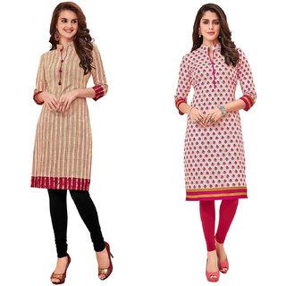 HRINKAR Multicolor and  Cotton Readymade cottan kurti formal - HRMKRCMB0116-L