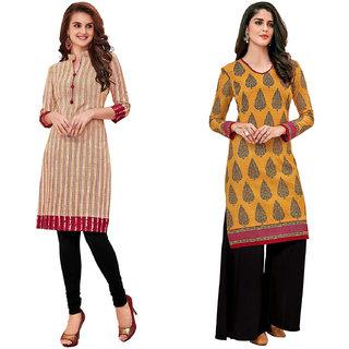 HRINKAR Multicolor and  Cotton Readymade kurti for girls - HRMKRCMB0118-L