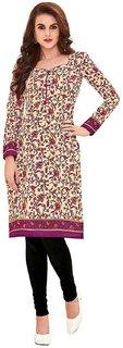 HRINKAR Yellow and Pink Cotton Readymade kurti for women cotton - HRMKRT1657-L