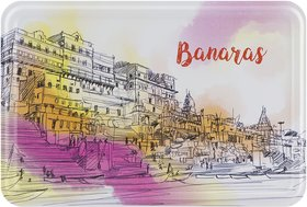 Happipress Banaras Darshan Metal Postcard