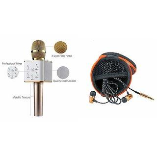 Mirza Q7 Microphone and Earphone Headset for XOLO Q1000 OPUS(Q7 Mic and Karoke with bluetooth speaker | Earphone Headset )