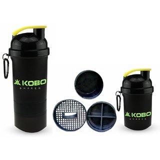 KOBO Shaker Sipper Bottle (Imported) For Gym Camping & Hiking (Black)