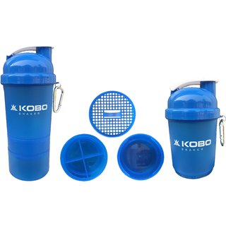 KOBO Shaker Sipper Bottle (Imported) For Gym Camping & Hiking (Blue)