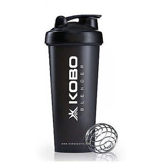 Kobo Shaker Sipper Bottle 600 ML With Blender Ball (Black)