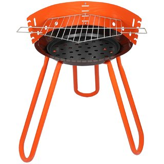 Tesler Portable Barbeque Grill With Stand, (BBQ), Orange