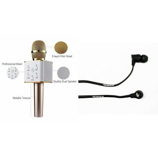 Mirza Q7 Microphone and Earphone Headset for SONY xperia pro(Q7 Mic and Karoke with bluetooth speaker | Earphone Headset )