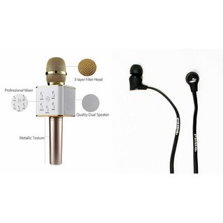 Mirza Q7 Microphone and Earphone Headset for SONY xperia x performance(Q7 Mic and Karoke with bluetooth speaker | Earphone Headset )