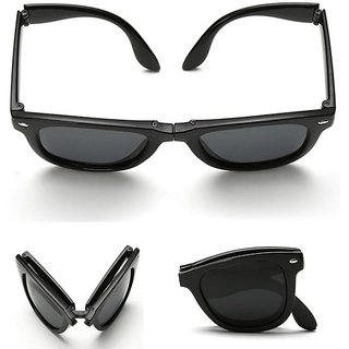 Meia Folding Black Wayfarer Sunglasses