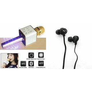 Mirza Q7 Microphone and Earphone Headset for LG g4 stylus(Q7 Mic and Karoke with bluetooth speaker | Earphone Headset )