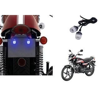 Autonity Bike LED Number/Licence Plate Blue Lights Set Of 2 for Hero HF Deluxe