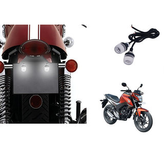 Autonity Bike LED Number/Licence Plate  White  Lights Set Of 2 for Honda CB Horn For  + Autonity Horn For  Relayet 160R
