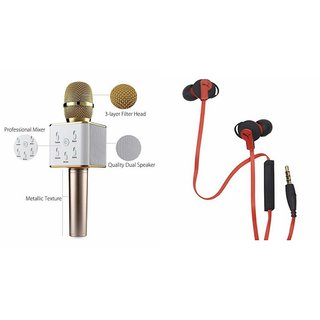 Mirza Q7 Microphone and Earphone Headset for MICROMAX CANVAS KNIGHT 2(Q7 Mic and Karoke with bluetooth speaker | Earphone Headset )