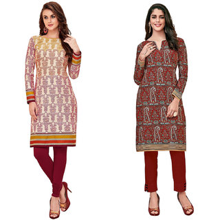 HRINKAR Multicolor and  Cotton Readymade kurti for women cotton - HRMKRCMB0058-L