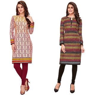 HRINKAR Multicolor and  Cotton Readymade kurtis for women - HRMKRCMB0036-L