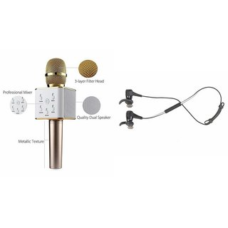 Mirza Q7 Microphone and Reflect Earphone Headset for SONY xperia ray(Q7 Mic and Karoke with bluetooth speaker   Reflect Earphone Headset )