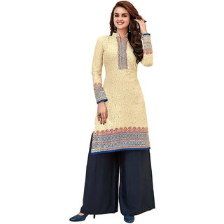 HRINKAR Multicolor and Yellow Cotton Readymade kurti for girls - HRMKRT1665-L