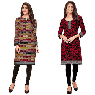 HRINKAR Multicolor and  Cotton Readymade kurti for women cotton - HRMKRCMB0071-L