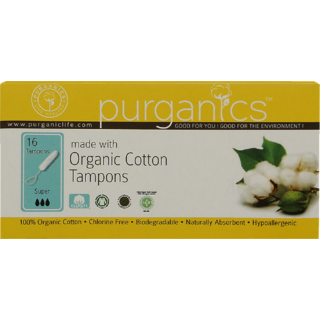 Purganics Organic Cotton Tampons For Super Flow