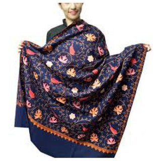 Aari Zaal Full Work (Kashmiri) Woolean Shawl Branded Quality