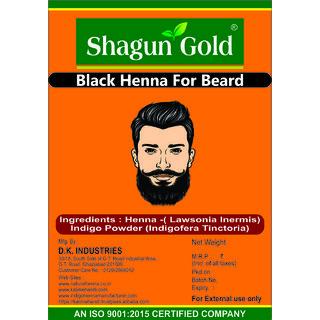 Buy 100 Natural Black Henna Beard Dye For Men 100gm Chemical Free