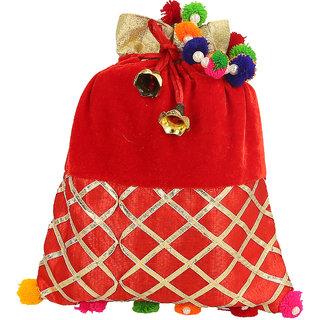 38%off Be You Stunning Criss Cross Gota Work Designer Potli (Bag) for Women 103cc6ff7374