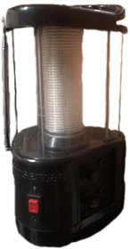 Solar Lantern with Panel. FM Radio, Multi Mobile Charger Etc.
