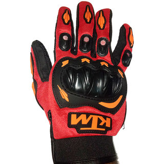 KTM branded Hand Gloves Motorcycle Riding/safety Gloves REd