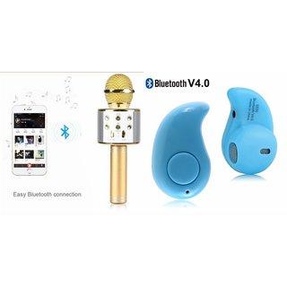 Zemini Q7 Microphone and Kaju Bluetooth Headset for XOLO ERA 4K(Q7 Mic and Karoke with bluetooth speaker | Kaju Bluetooth Headset With Mic)